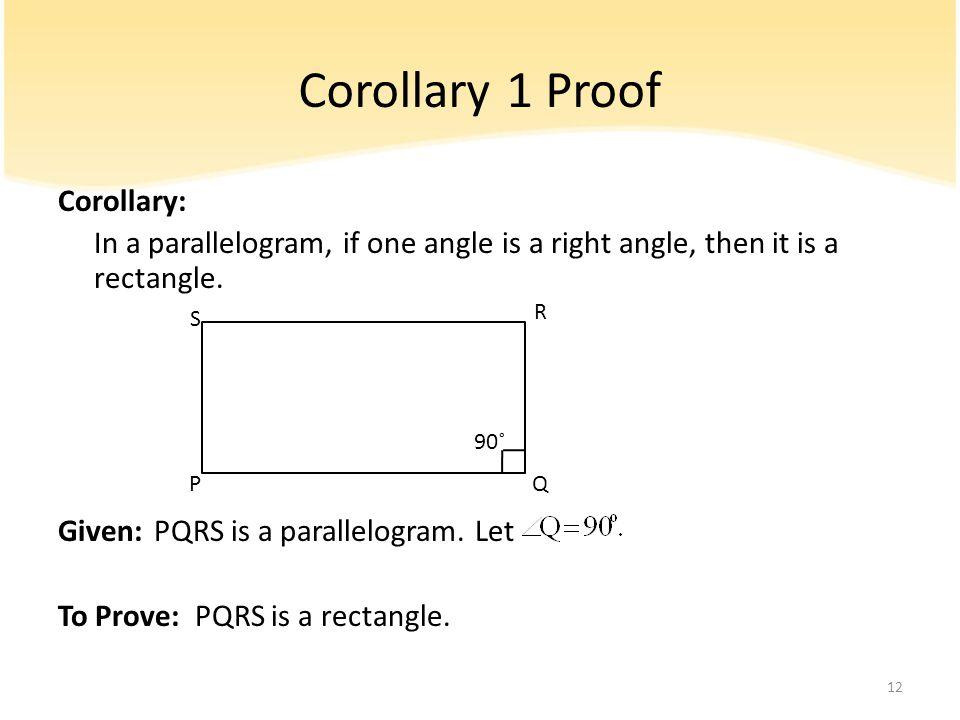 Corollary 1 Proof