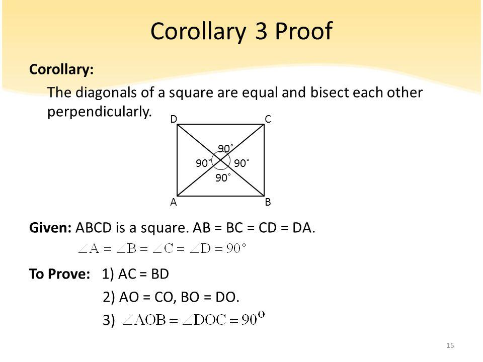 Corollary 3 Proof