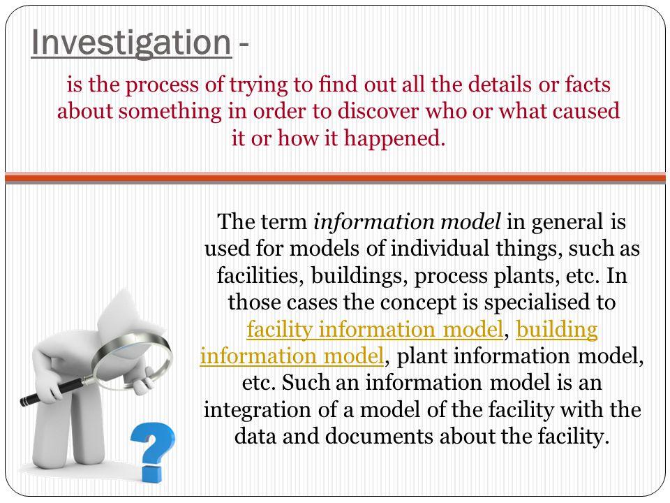 Investigation -