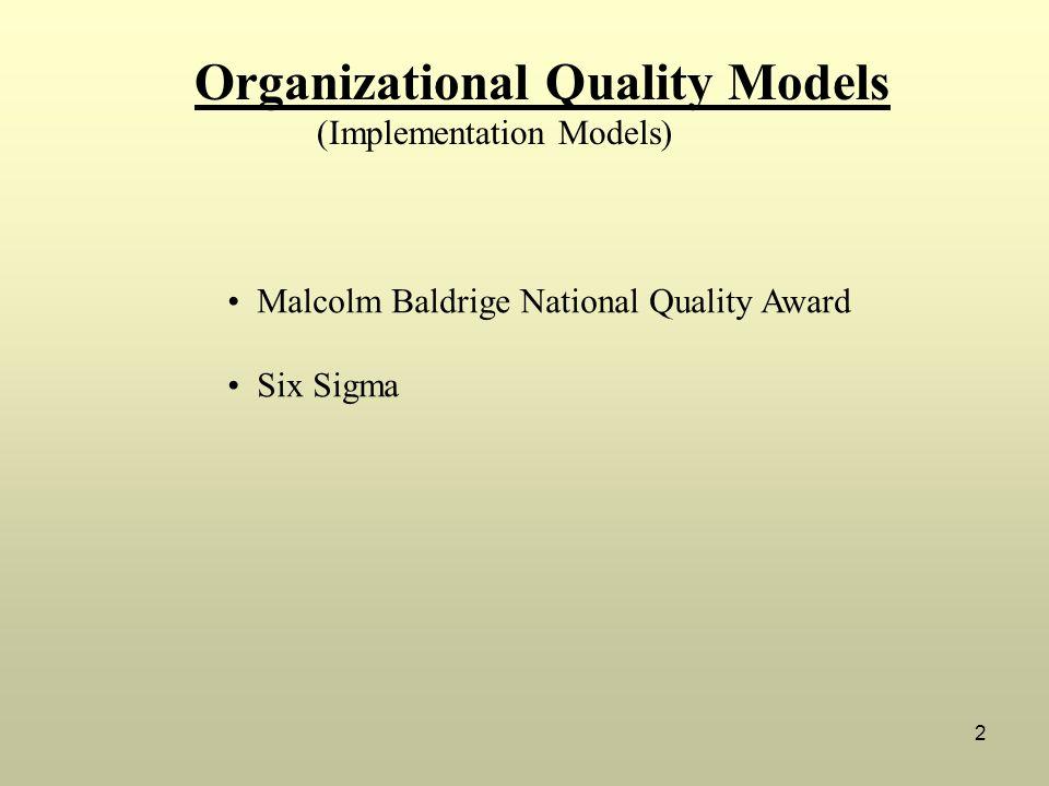 Organizational Quality Models