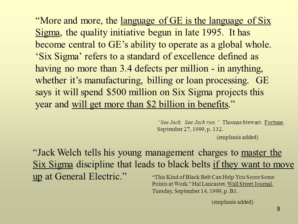 Jack Welch tells his young management charges to master the