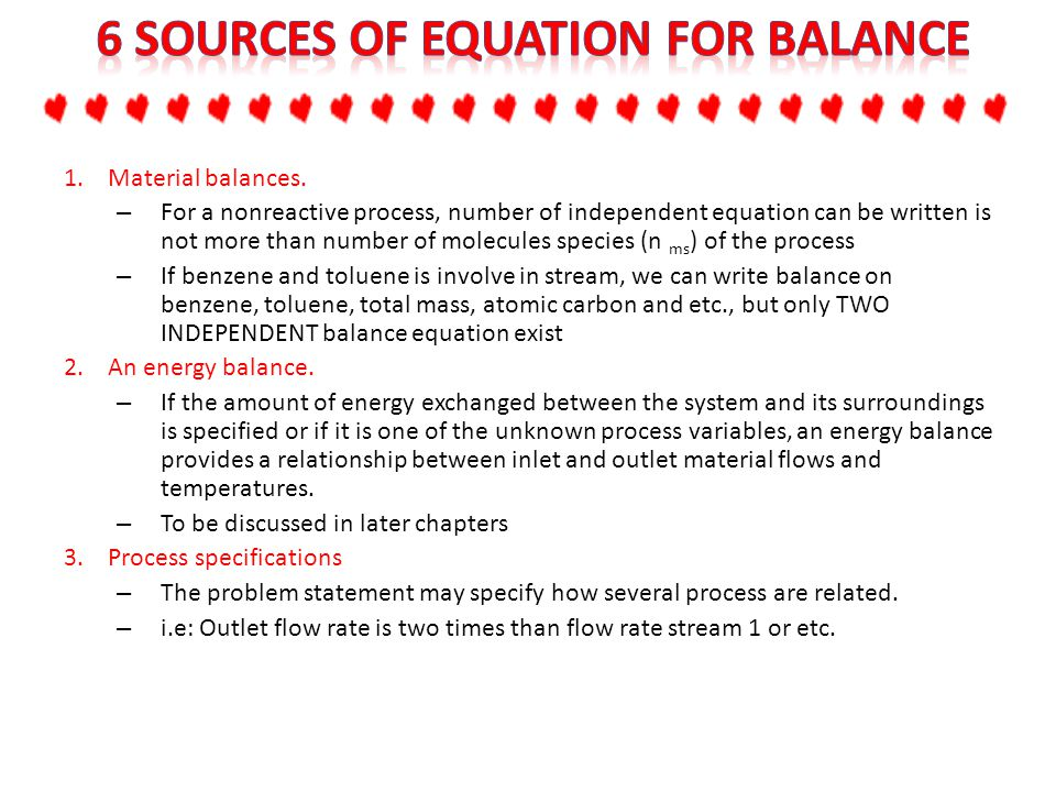 6 Sources of Equation for Balance