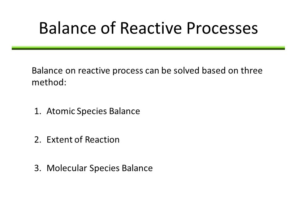 Balance of Reactive Processes