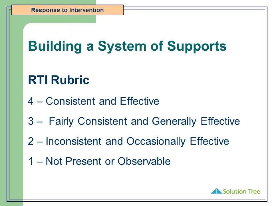 Building a System of Supports