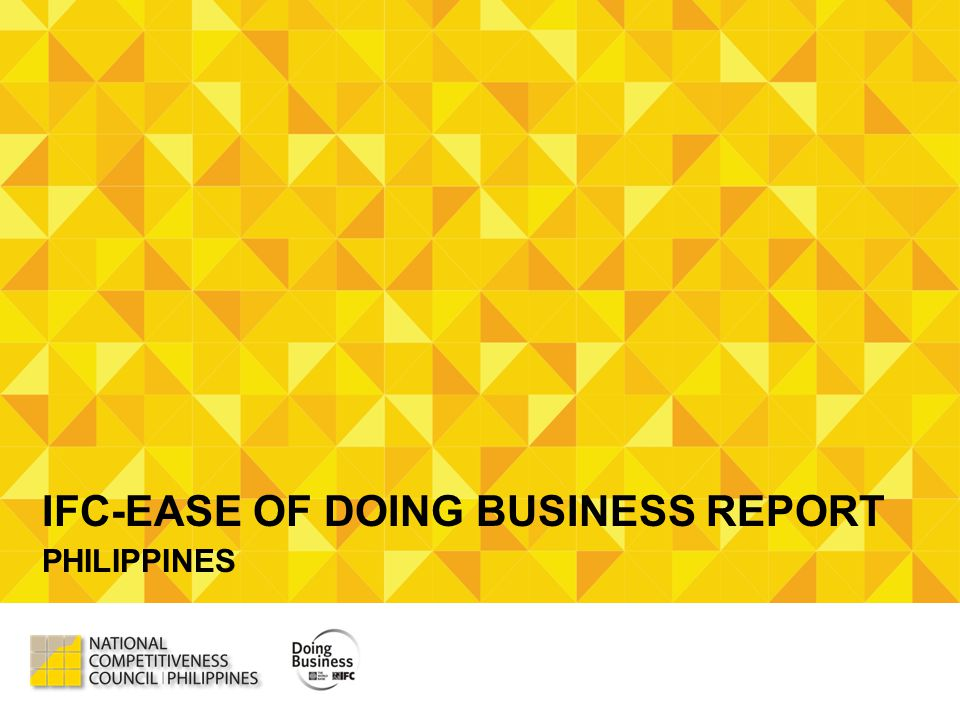 IFC-EASE OF DOING BUSINESS REPORT