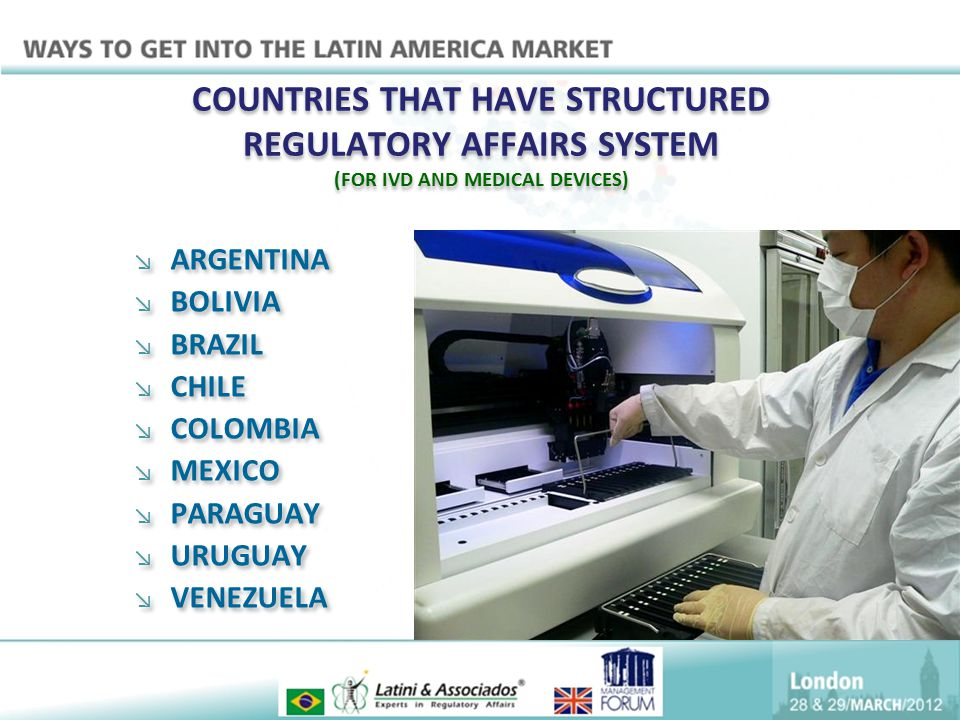 COUNTRIES THAT HAVE STRUCTURED REGULATORY AFFAIRS SYSTEM (FOR IVD AND MEDICAL DEVICES)