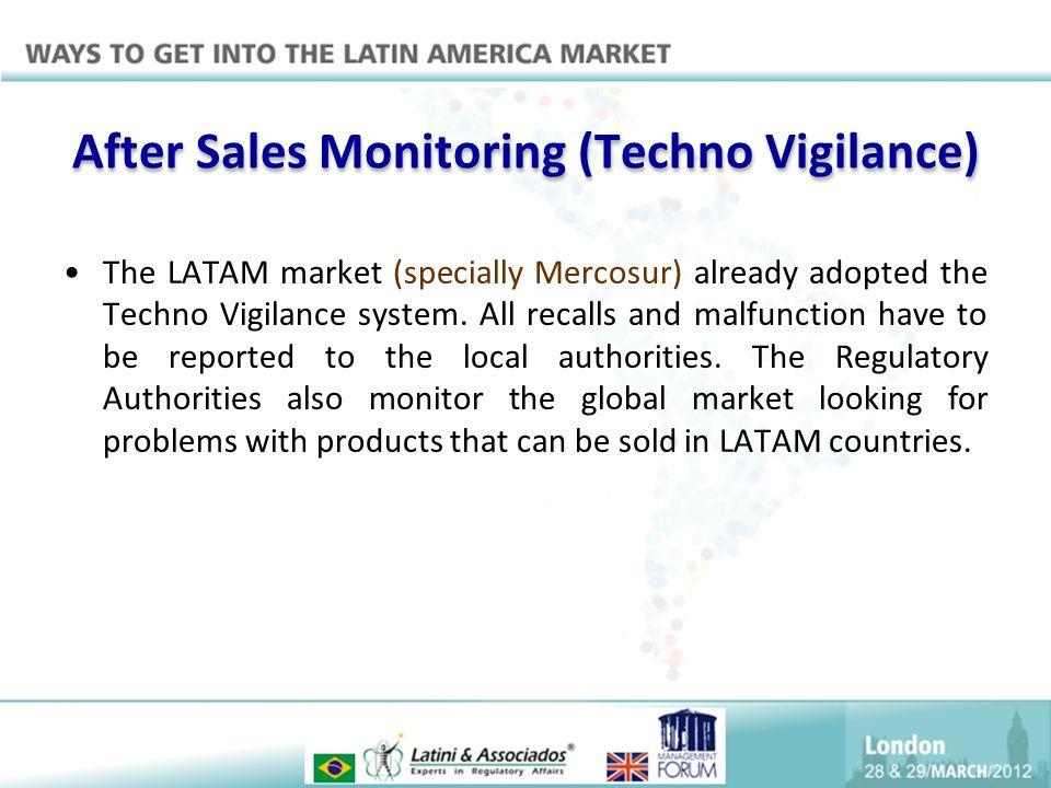 After Sales Monitoring (Techno Vigilance)