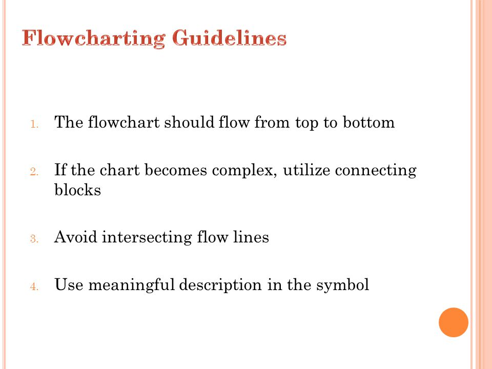 Flowcharting Guidelines