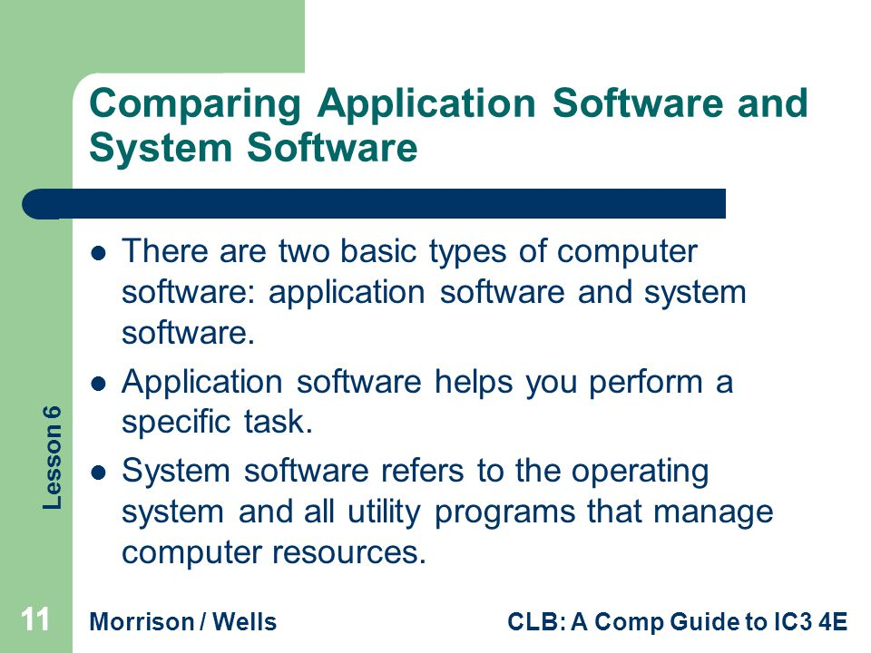 Comparing Application Software and System Software