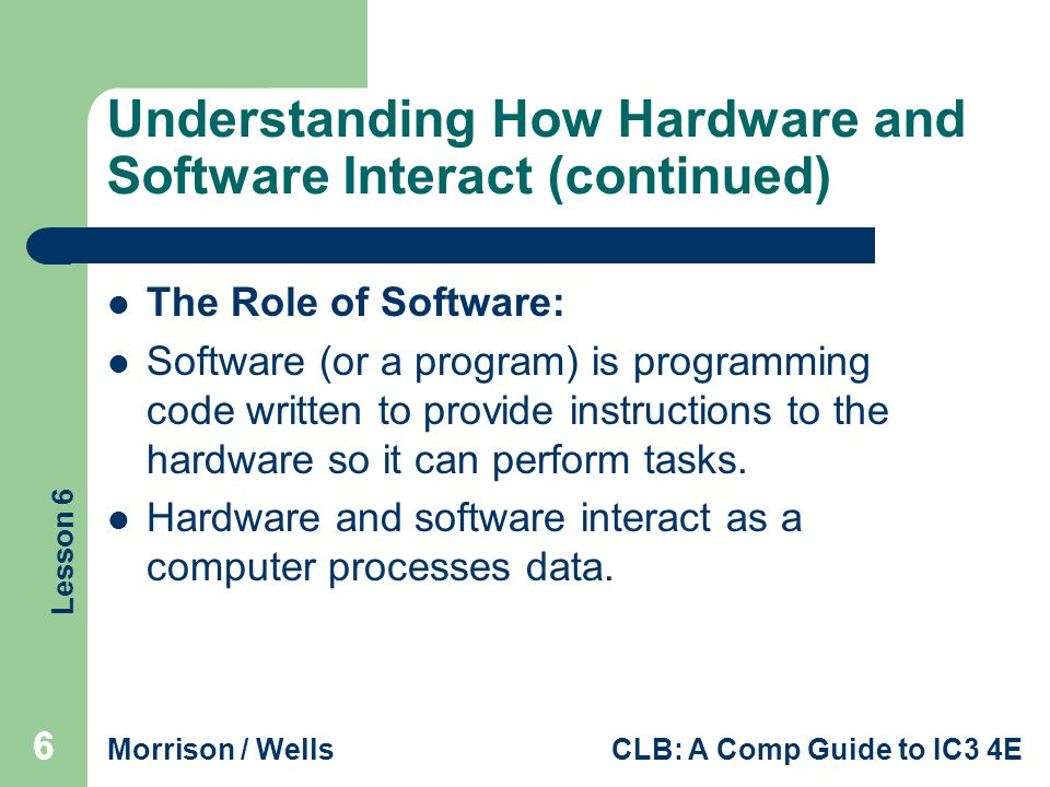 Understanding How Hardware and Software Interact (continued)