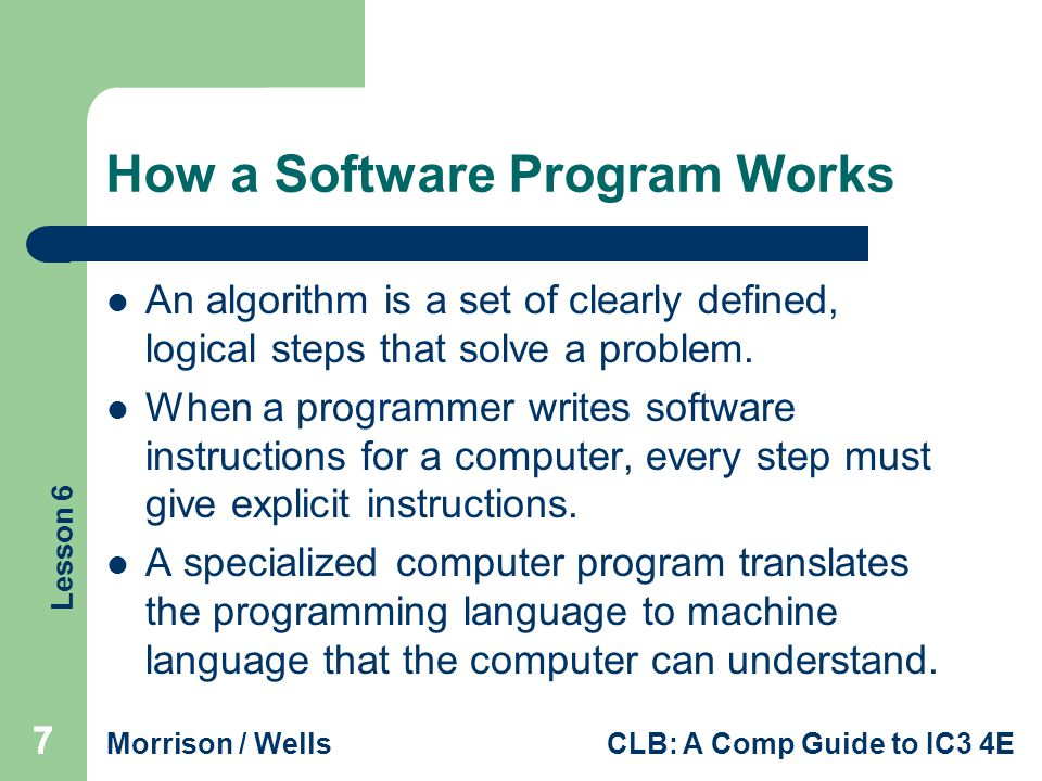 How a Software Program Works