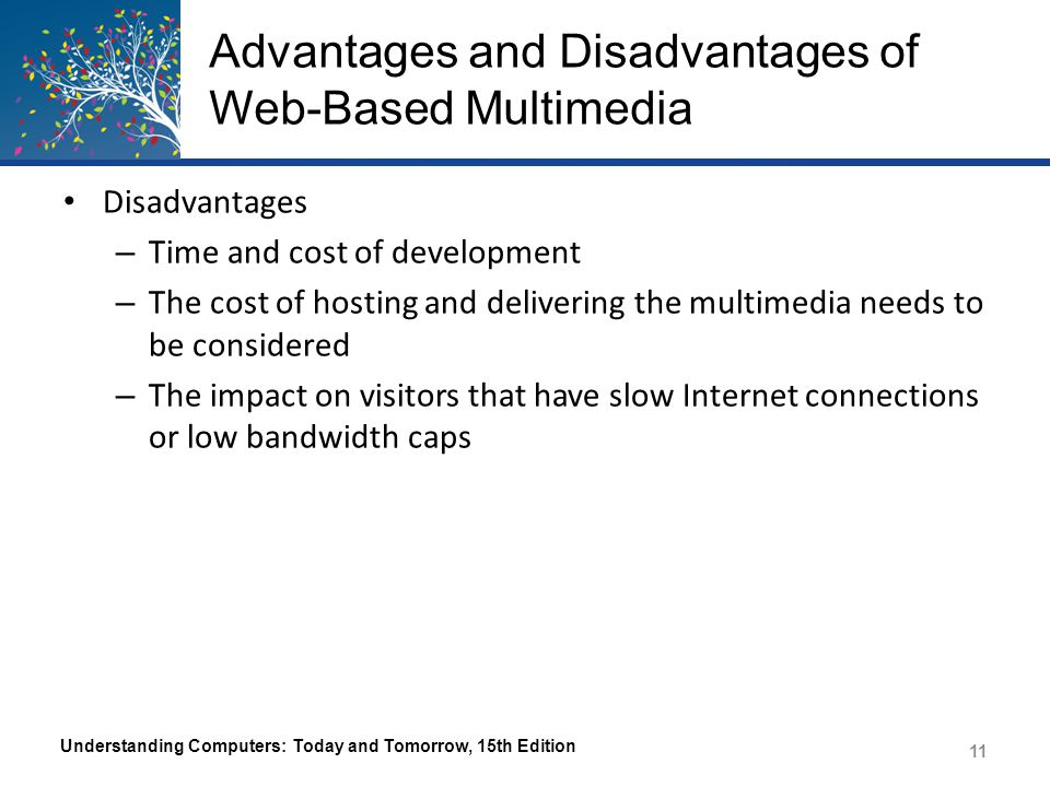 Advantages and Disadvantages of Web-Based Multimedia