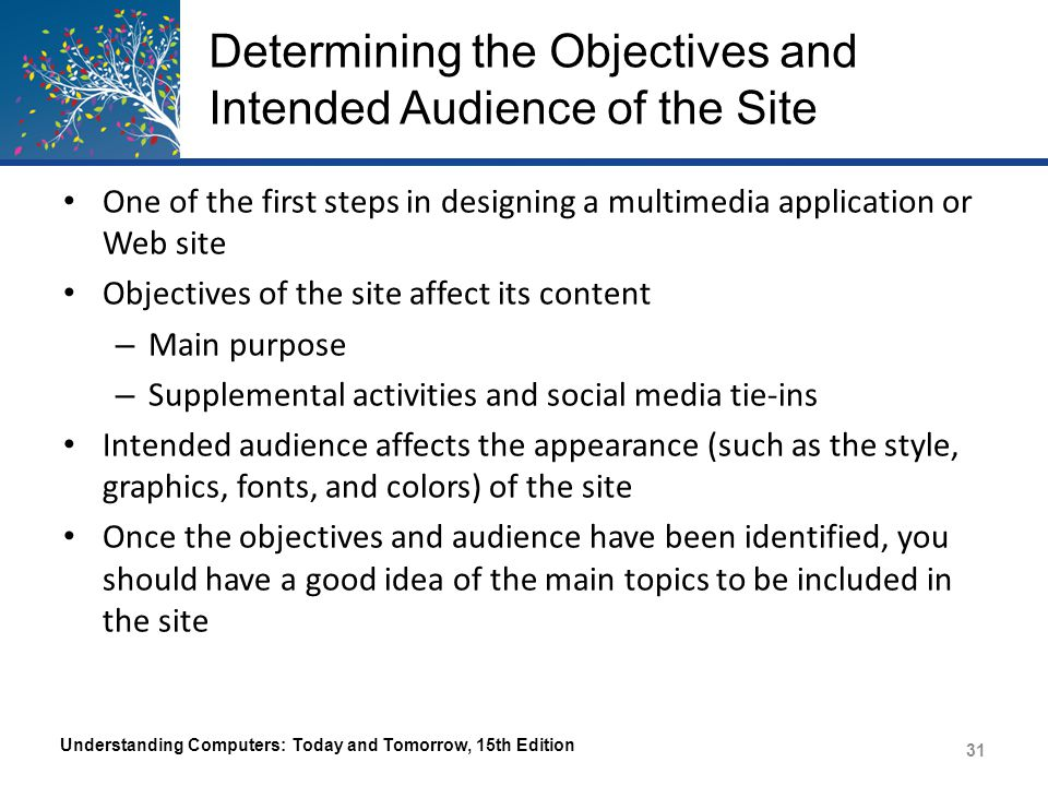 Determining the Objectives and Intended Audience of the Site