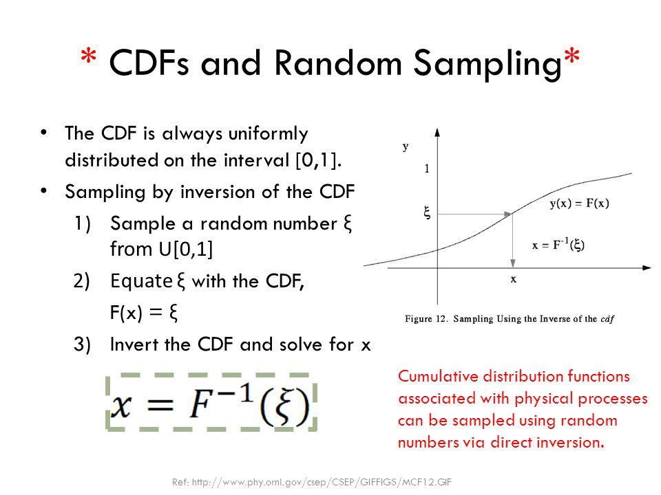 * CDFs and Random Sampling*