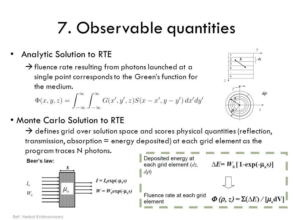 7. Observable quantities
