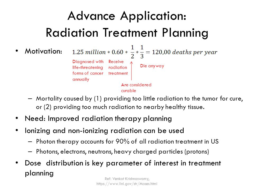 Advance Application: Radiation Treatment Planning