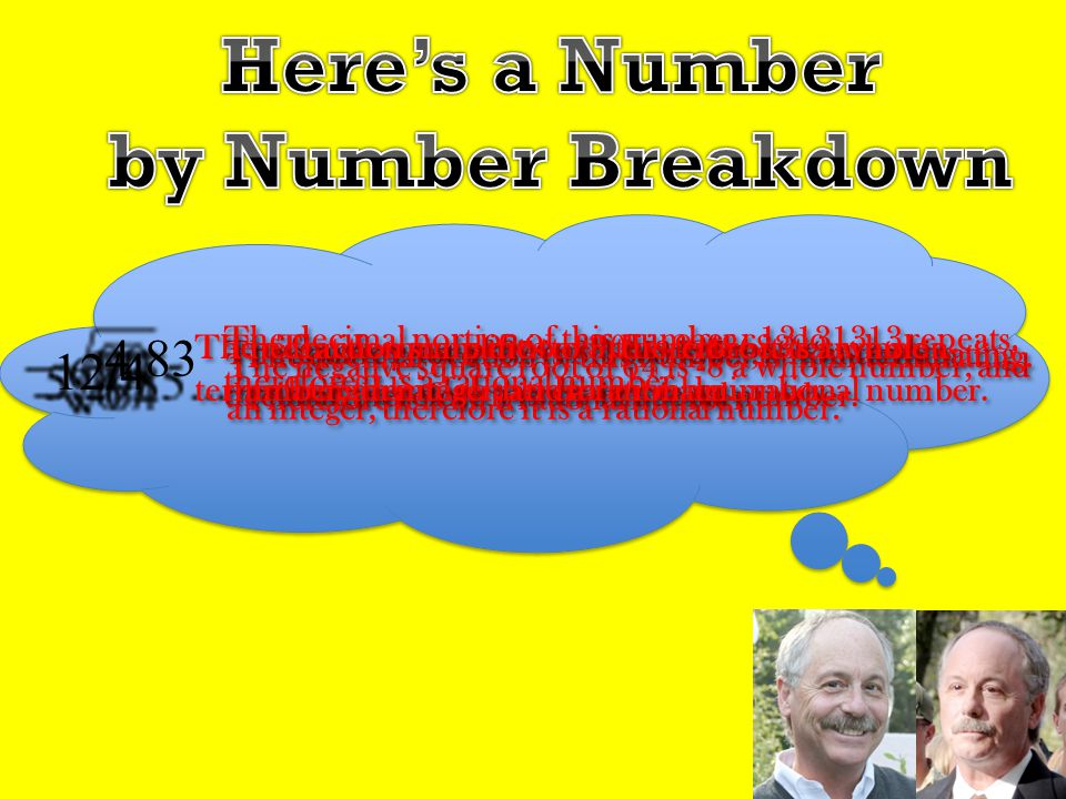 Here's a Number by Number Breakdown