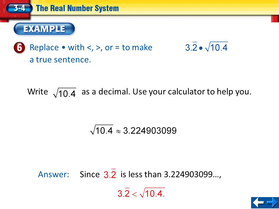Write as a decimal. Use your calculator to help you.