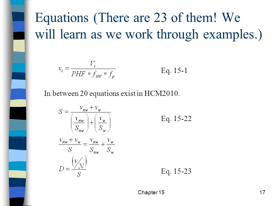 Equations (There are 23 of them