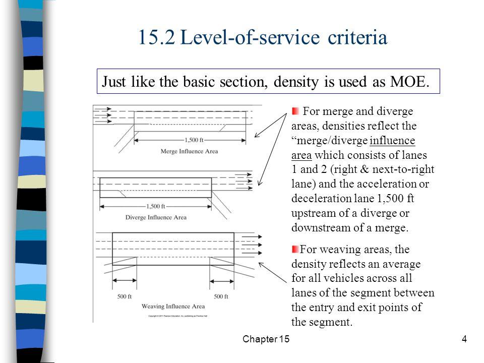 15.2 Level-of-service criteria