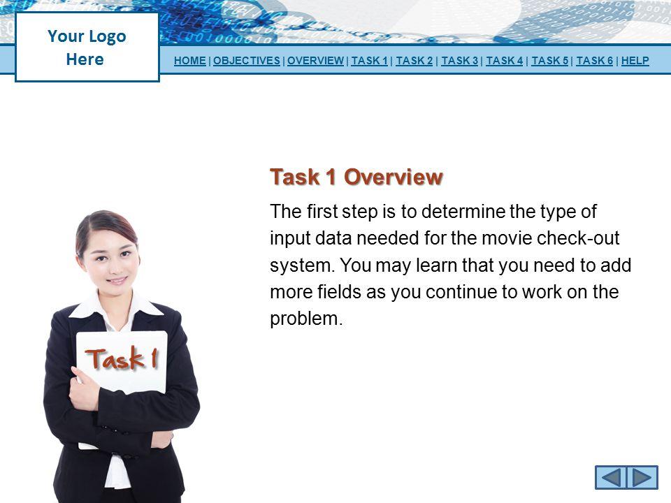 HOME   OBJECTIVES   OVERVIEW   TASK 1   TASK 2   TASK 3   TASK 4   TASK 5   TASK 6   HELP