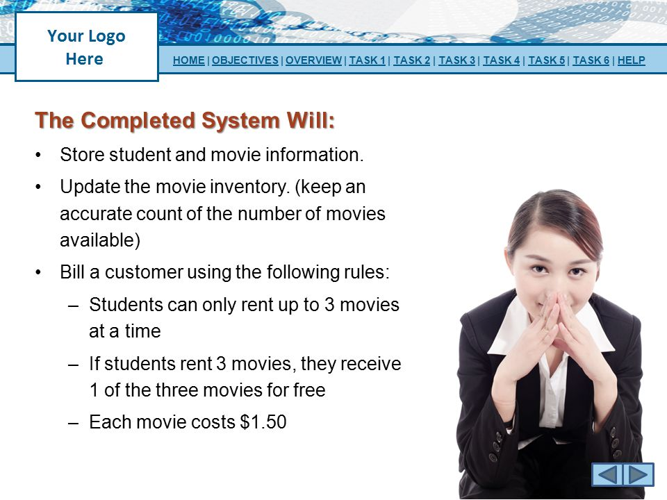 The Completed System Will: