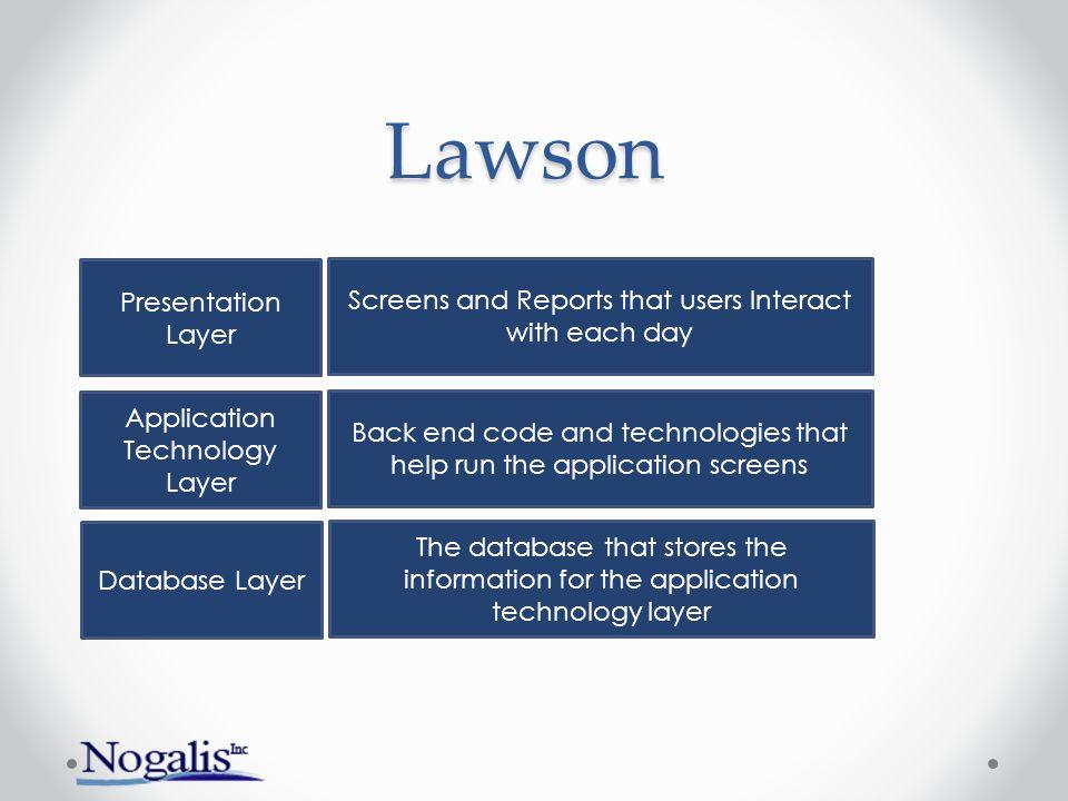 Lawson Presentation Layer