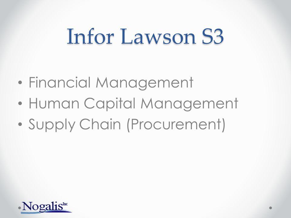 Infor Lawson S3 Financial Management Human Capital Management