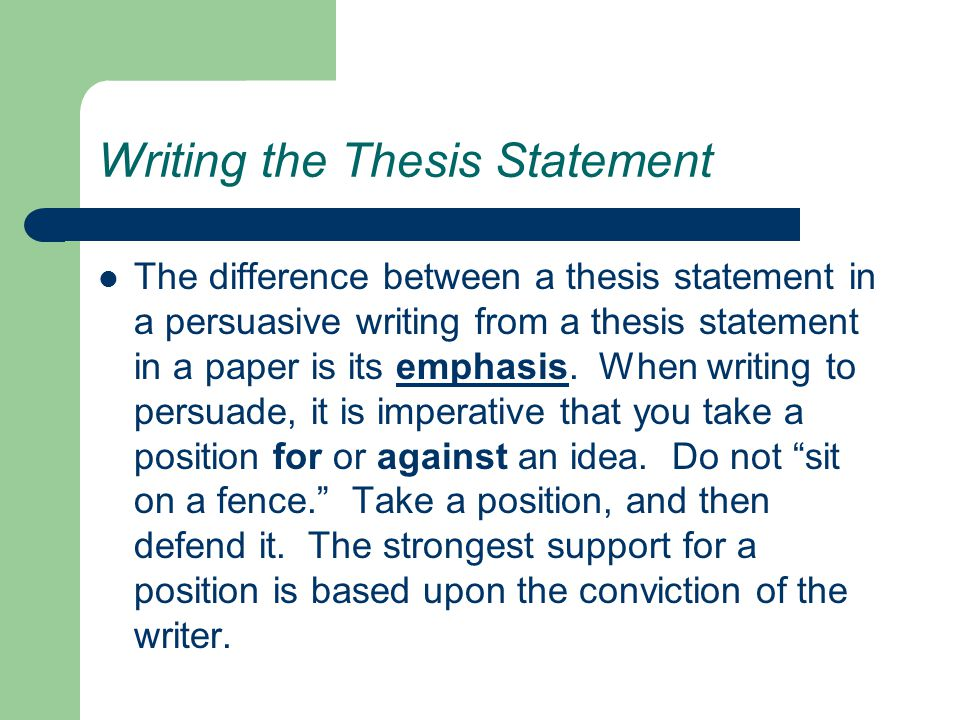Argumentative Thesis Statement