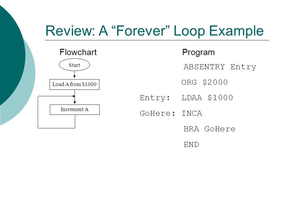 Review: A Forever Loop Example