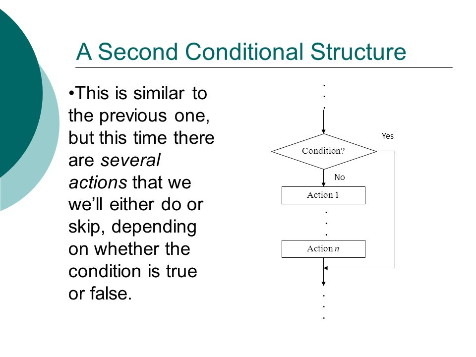 A Second Conditional Structure