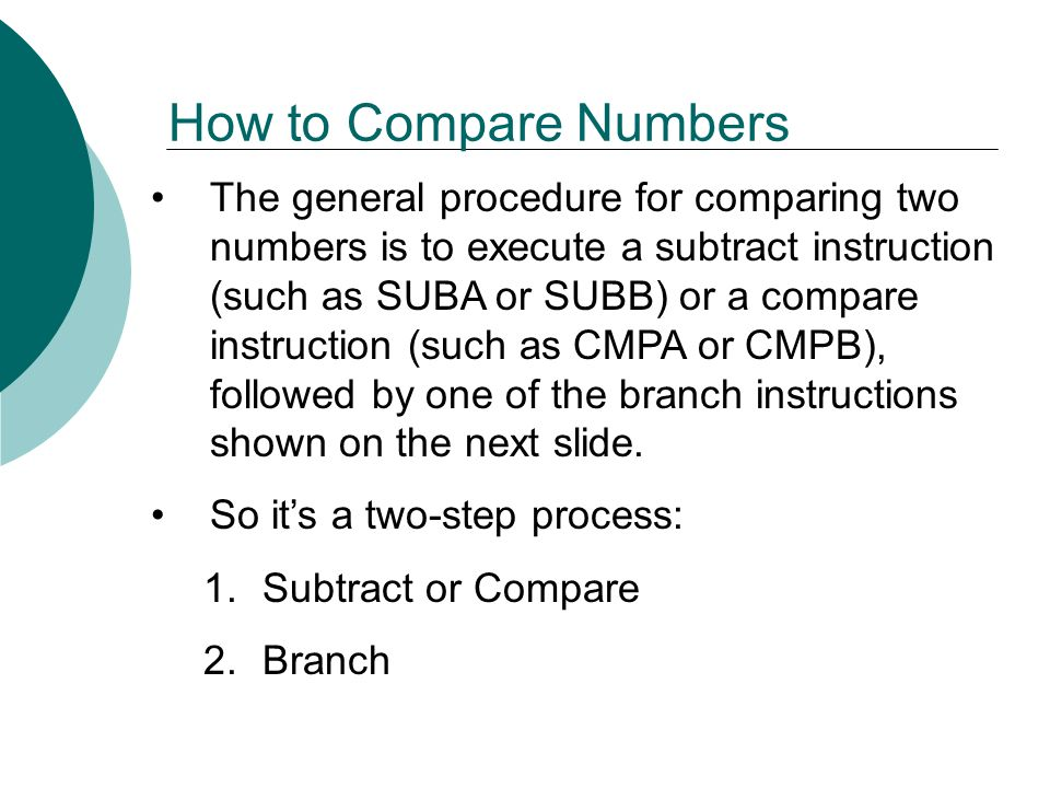 How to Compare Numbers