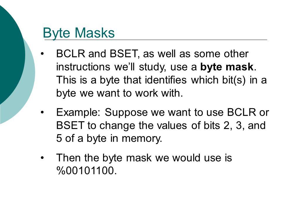 Byte Masks