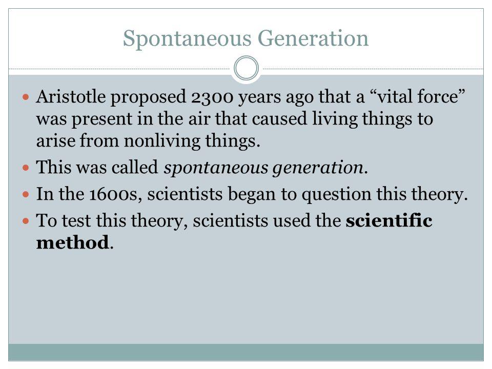 Spontaneous Generation