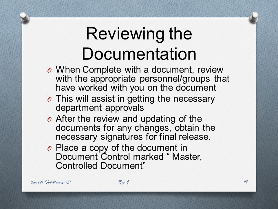Reviewing the Documentation