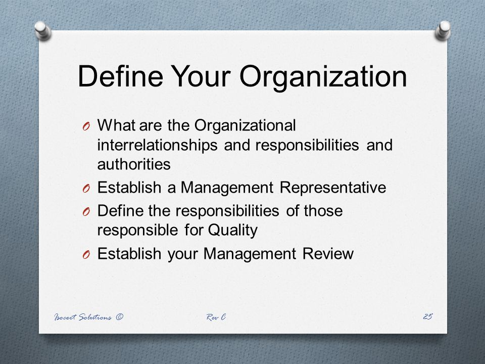 Define Your Organization