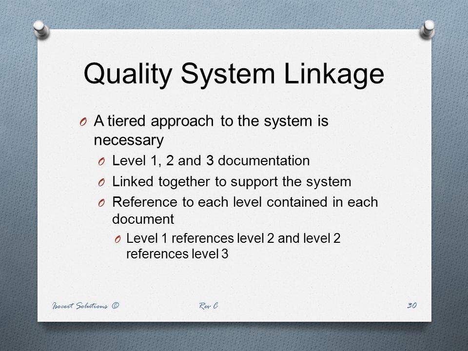 Quality System Linkage