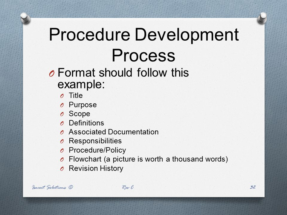 Procedure Development Process