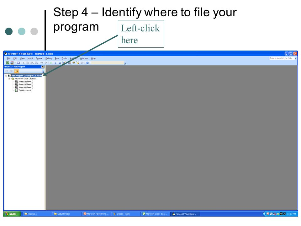 Step 4 – Identify where to file your program