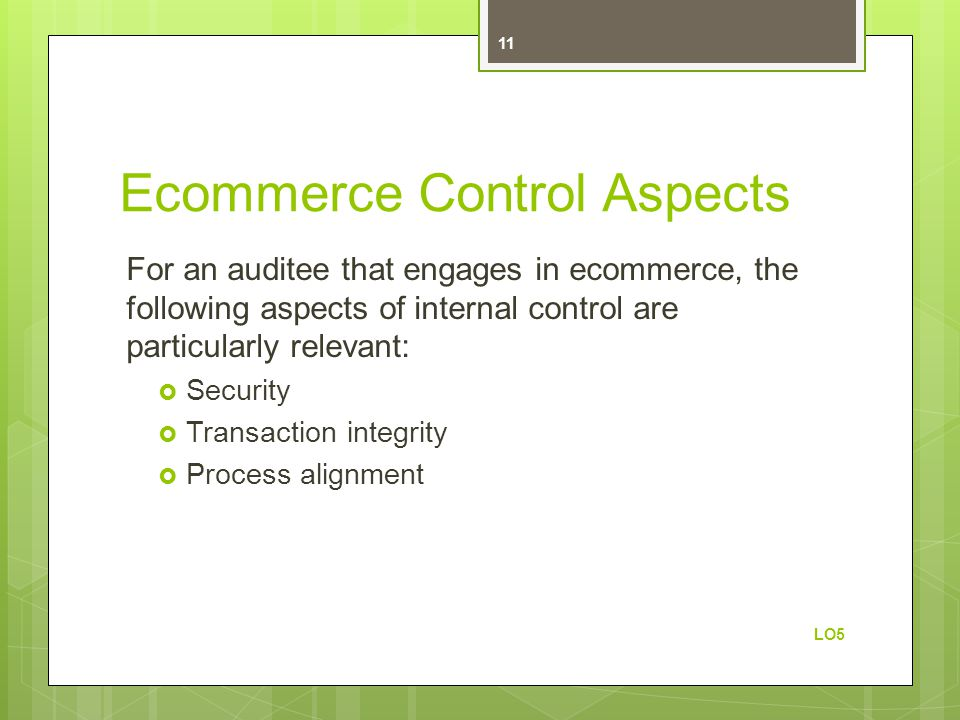 Ecommerce Control Aspects