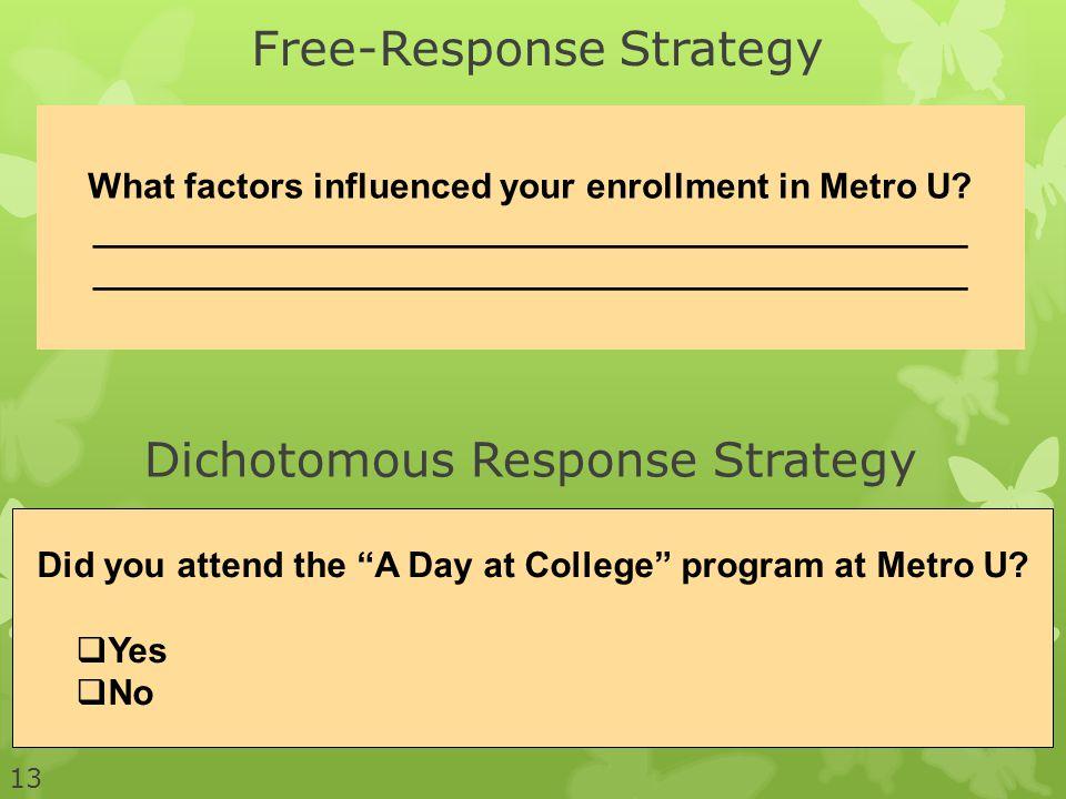 Free-Response Strategy