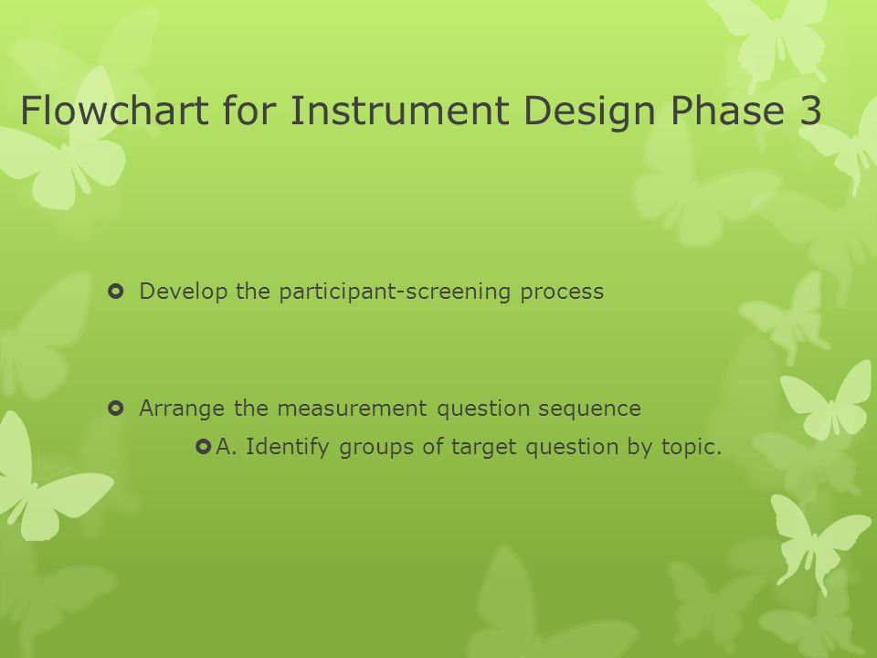 Flowchart for Instrument Design Phase 3