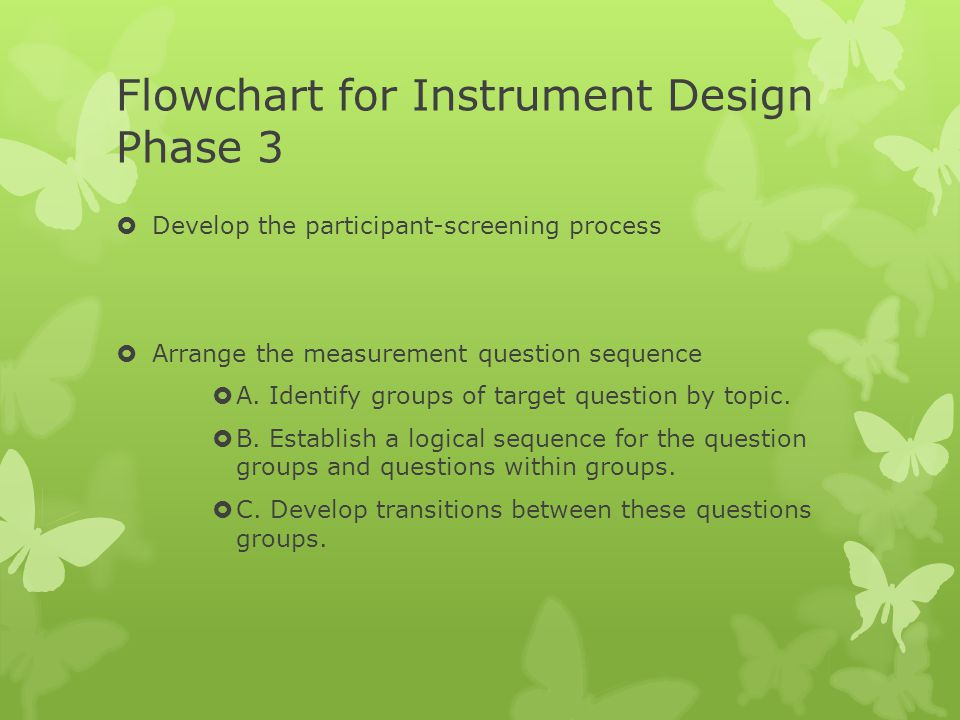 Flowchart for Instrument Design Phase 3