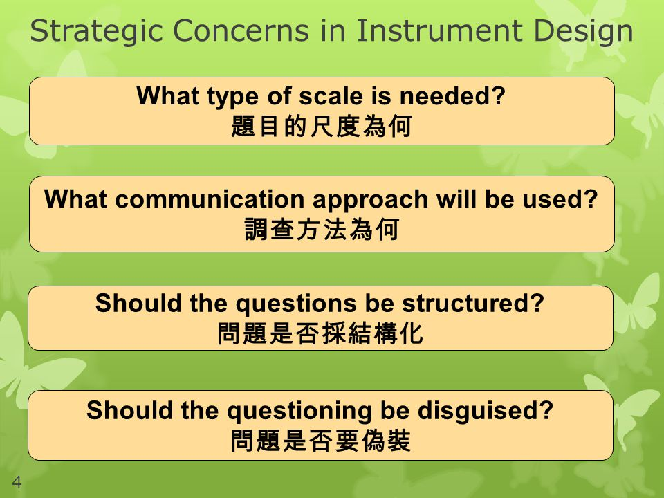 Strategic Concerns in Instrument Design