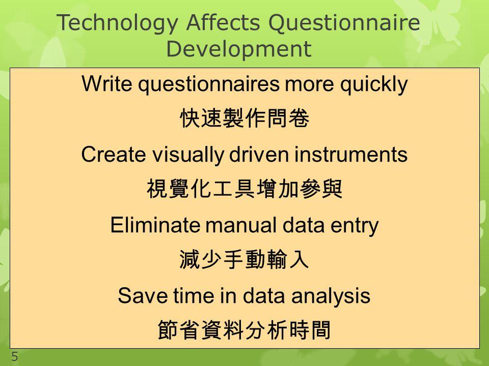 Technology Affects Questionnaire Development