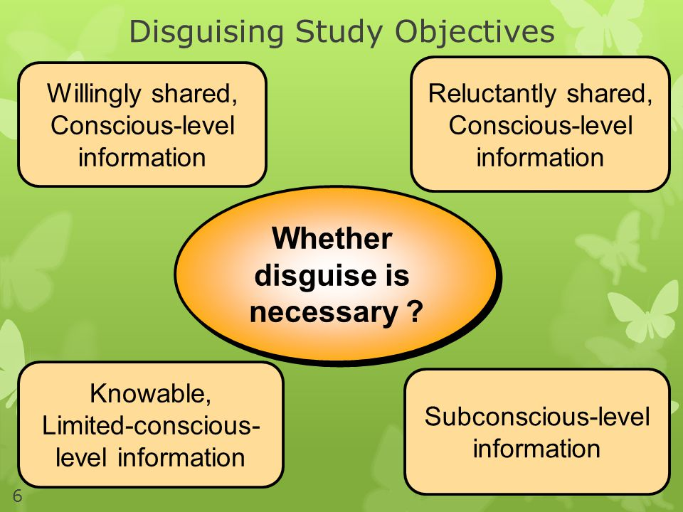 Disguising Study Objectives