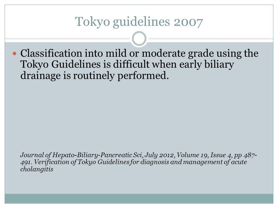 Tokyo guidelines 2007