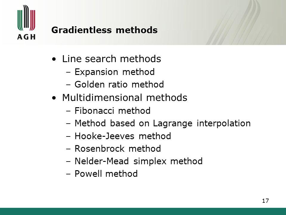 Multidimensional methods