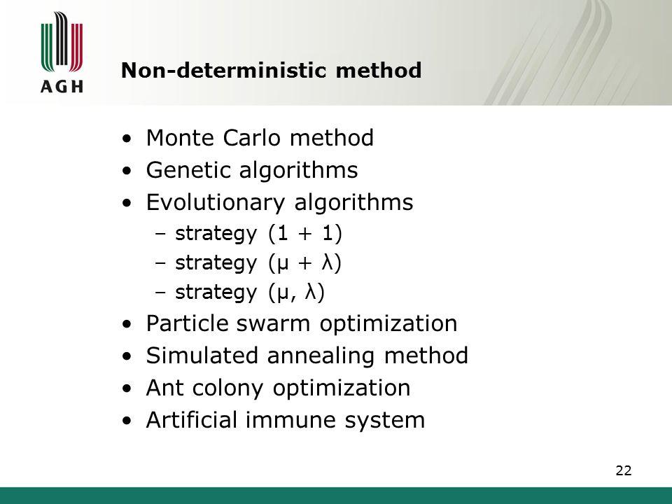 Non-deterministic method