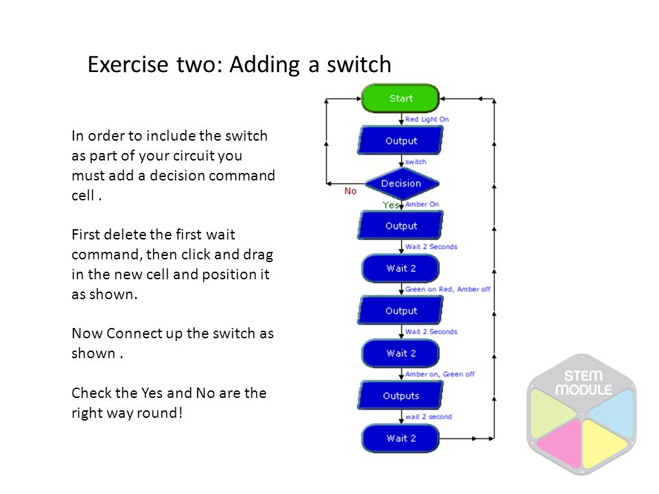 Exercise two: Adding a switch